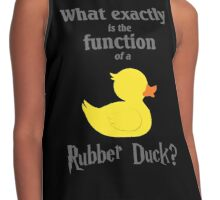 Function of a Rubber Duck Contrast Tank