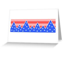 Stars & Stripes Mountain Landscape Greeting Card