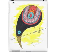 Black bird on the wire iPad Case/Skin