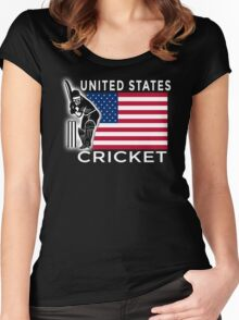United States Cricket Women's Fitted Scoop T-Shirt