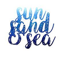 Sun Sand & Sea Photographic Print