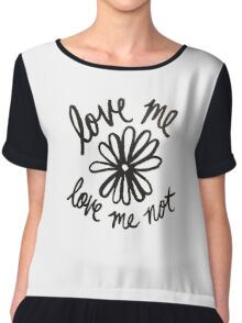 Love Me Love Me Not Chiffon Top