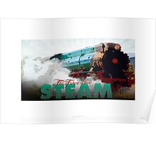 SteamTrain_green Poster
