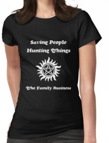 Supernatural - Saving People Hunting Things Womens Fitted T-Shirt