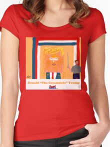 Trump the Creamsicle by Roger Pickar, Goofy America Women's Fitted Scoop T-Shirt