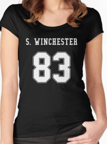 Sam Winchester jersey Women's Fitted Scoop T-Shirt