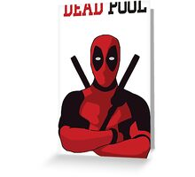 Dead pool Greeting Card