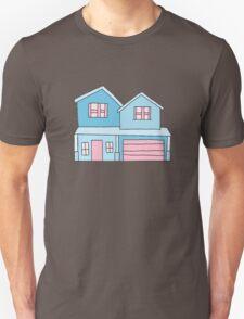 cute blue suburban house Unisex T-Shirt