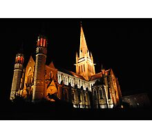 Beautiful Church Night Photo Photographic Print