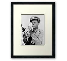 Gun Crazy Barney Framed Print