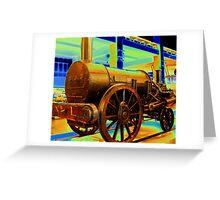Steam Locomotive Extra Bronze Greeting Card
