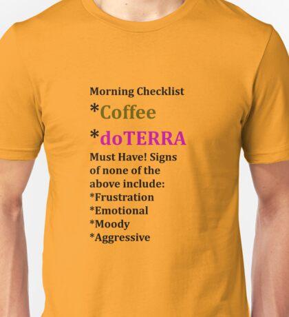 doTERRA Morning ritual Unisex T-Shirt