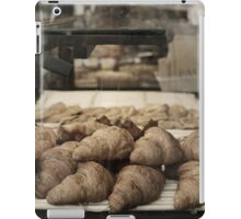 French croissants displayed in Paris bakery window. iPad Case/Skin
