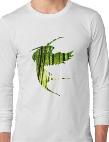 Bird Silhouette in the Woods Long Sleeve T-Shirt