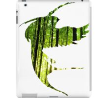 Bird Silhouette in the Woods iPad Case/Skin