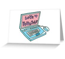 love yourself laptop computer Greeting Card