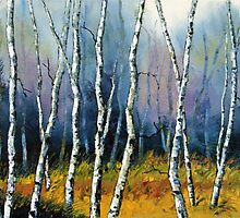 Winter Reverie by Lisa Elley. Palette knife painting in oil  by lisaelley