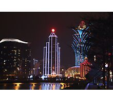 Macau by Night # 1 Photographic Print