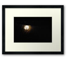 Scary Halloween Full Moon Framed Print