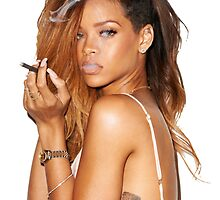 rihanna smoking by loganator