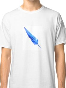Handcrafted Blue Feather Classic T-Shirt