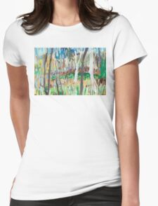 Water Lilies Through the Trees Womens Fitted T-Shirt