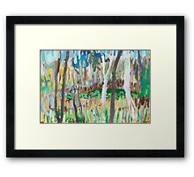 Water Lilies Through the Trees Framed Print