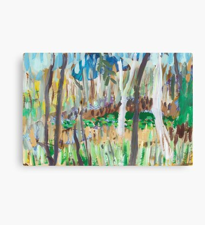 Water Lilies Through the Trees Canvas Print
