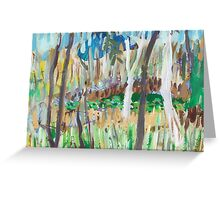 Water Lilies Through the Trees Greeting Card