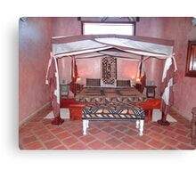 Kenyan African traditional double bed Canvas Print