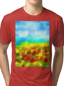 Summer Time Abstract - 1 Tri-blend T-Shirt