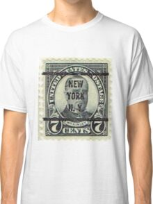 Antique Black NYC Stamp Classic T-Shirt
