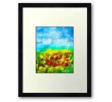 Summer Time Abstract - 1 Framed Print