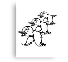 Vogel fliegen süss witzig formation  Canvas Print