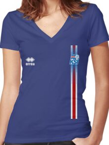 Iceland National Football Team - EURO 2016 Semifinals Women's Fitted V-Neck T-Shirt