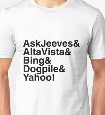 """Helvetica """"&"""" - Search Engines Unisex T-Shirt"""