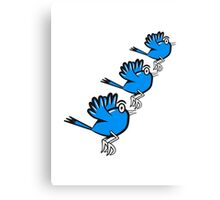 Vogel fliegen süss witzig comic formation  Canvas Print