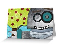 Robots Love Apples Greeting Card