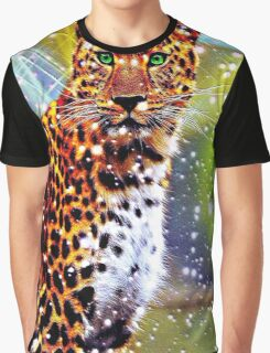 Abstract Leopard Graphic T-Shirt
