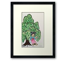 Becky dancing Willows  Framed Print