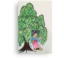 Becky dancing Willows  Canvas Print