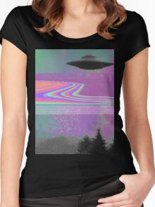 Psychedelic UFO Women's Fitted Scoop T-Shirt