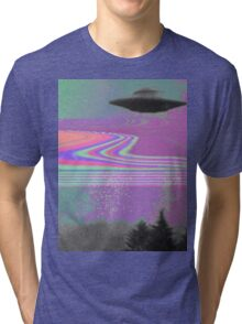 Psychedelic UFO Tri-blend T-Shirt