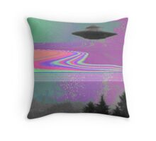 Psychedelic UFO Throw Pillow