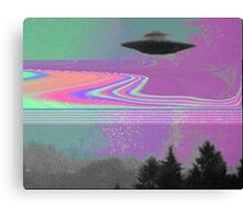 Psychedelic UFO Canvas Print