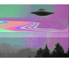 Psychedelic UFO Photographic Print