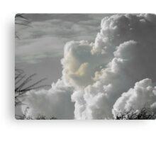 Monochrome clouds Canvas Print