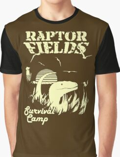 Raptor Fields Survival Camp Graphic T-Shirt
