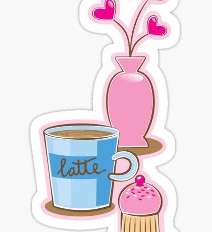 A very cute Coffee Break! Sticker
