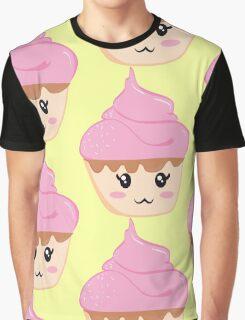 Kawaii Cupcake Graphic T-Shirt